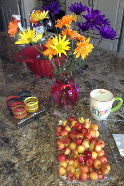 Ranier Cherries, Neon Flowers and World's Best Mom!