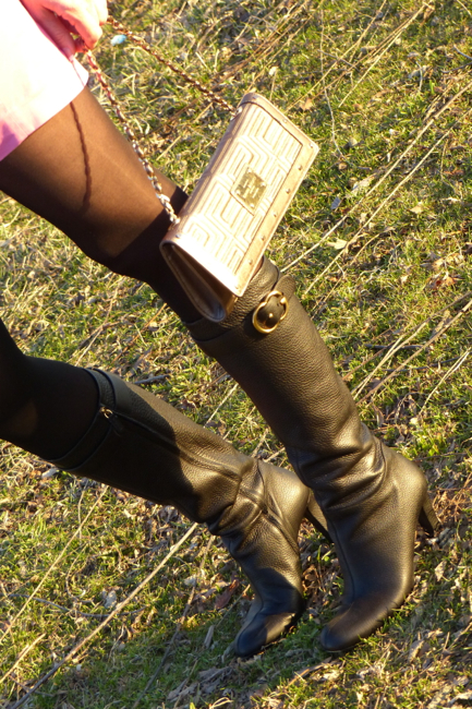 Pic6-Gucci Boots and Versace Clutch