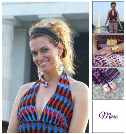 Monumental Moments :: Halter Top Romper and Gold Accents