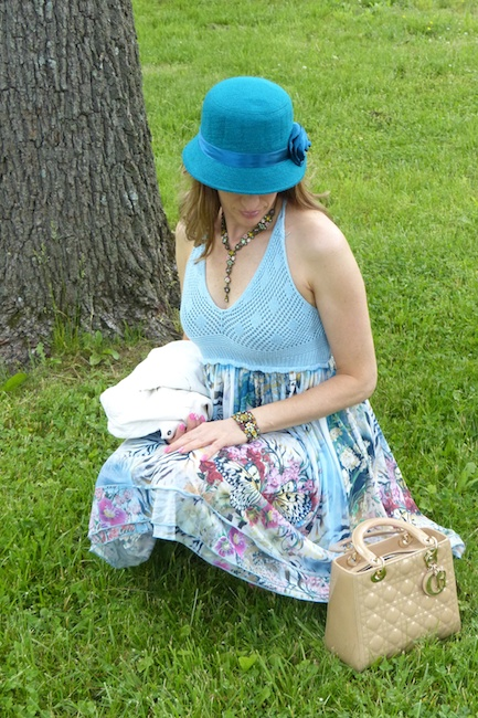 Pic2-Spring floral crochet dress