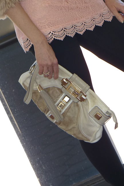 Pic 5- Diamondleone.com -Guess cream and tan clutch