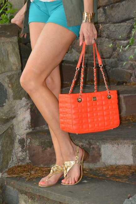 Pic 8- Diamondleone.com-Kate Spade neon orange handbag
