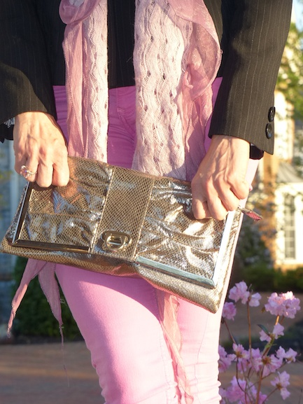 Pic 8- Diamondleone.com-silver metallic clutch