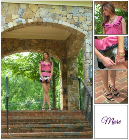 Summer Outing :: Printed Shorts & Patent Leather