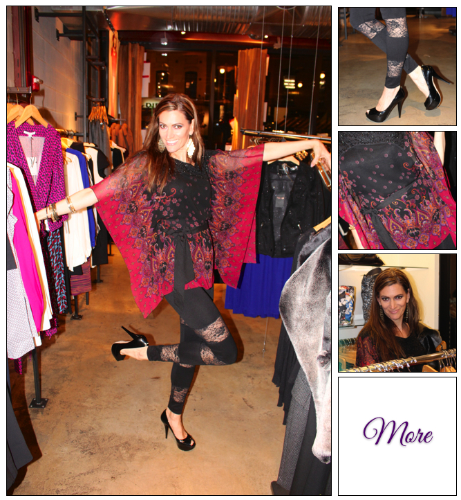 Holiday Glam Look #1 :: Sultry Colors & Lace Leggings