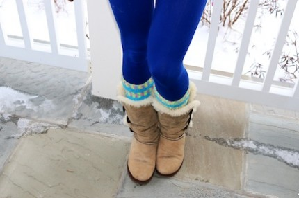 DIamondLeone.com - Neon Fur Collar and cobalt blue leggings 8