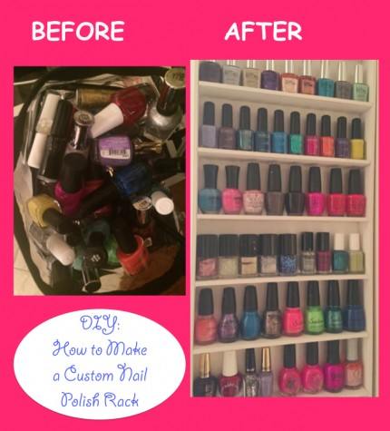 DIY Video :: How to Make a Custom Sized Nail Polish Rack